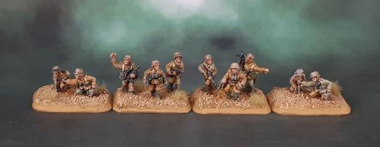 15mm Flames of War DAK Afrika Korps Platoon Command - Battlefront Miniatures