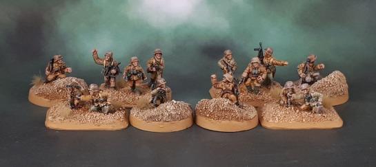 15mm Flames of War DAK Afrika Korps Status Markers, Platoon Command - Battlefront Miniatures