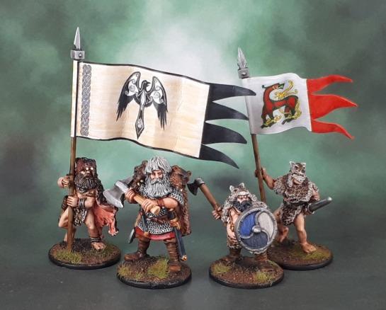 Wargames Foundry Vikings, Saga, VIK043 Viking Berserker Champions, Raven Banner, Viking Banner