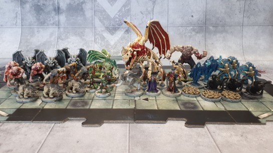 Dungeons and Dragons Castle Ravenloft Villains - Complete Painted Set