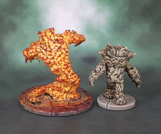 Dungeons and Dragons Miniatures Temple of Elemental Evil - Earth and Fire Elementals