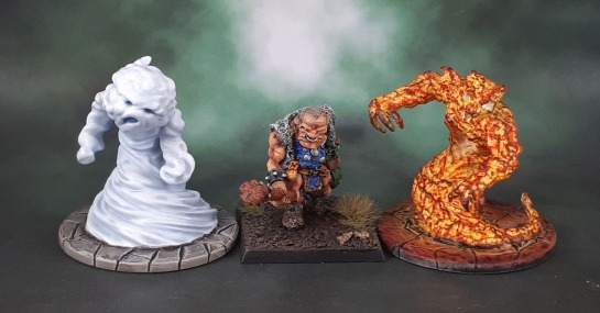 Dungeons and Dragons Miniatures Temple of Elemental Evil - Air and Fire Elementals