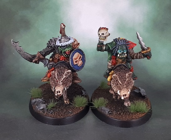 Oldhammer Orc Shaman and General (1988, Kev Adams)