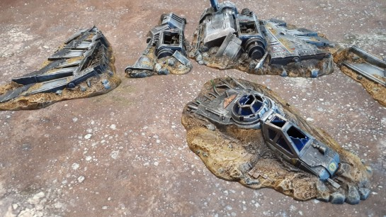 Battle for Macragge Crashed Aquila Lander 40k 4th Ed Starter Set Terrain