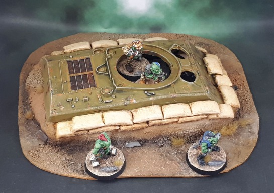 """Dug-In Tank Hull"" Mostly-Scratchbuilt Scenery"