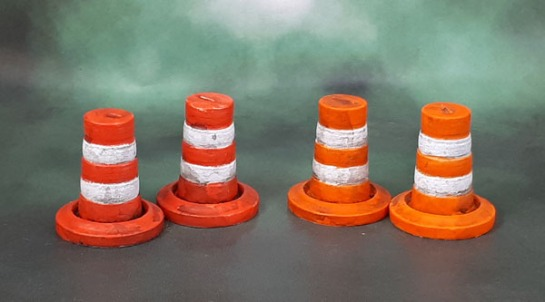 Secret Weapon Miniatures' Traffic Pylons