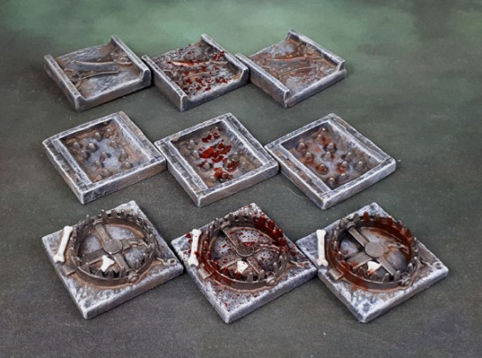 "Mantic Terrain Crate Dark Lord's Tower ""Trap Tiles"""