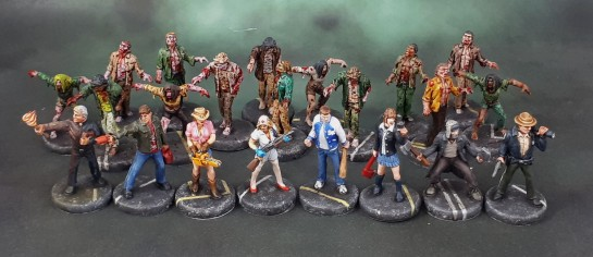 Last Night On Earth Board Game Miniatures Painted