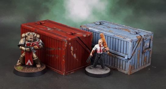 Reaper Bones 80035: Dumpster & Reaper Bones 80034: Weapons Locker