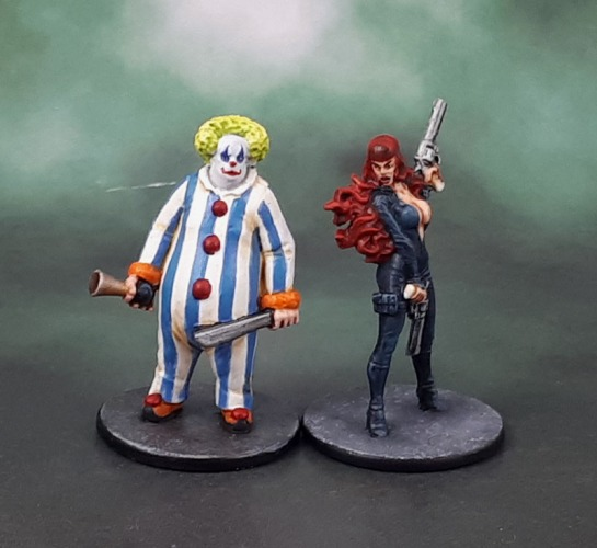 "Zombicide ""Elsa"" (Not-Black Widow) and ""Uncle Honk"""