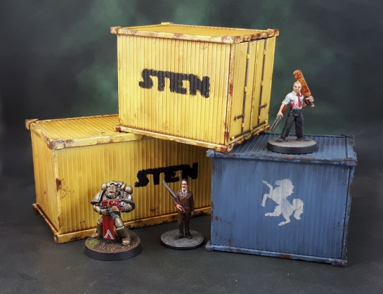 "Reaper Bones Shipping Containers, 80036: Shipping Container; (unreleased?): 3"" Shipping Containers"
