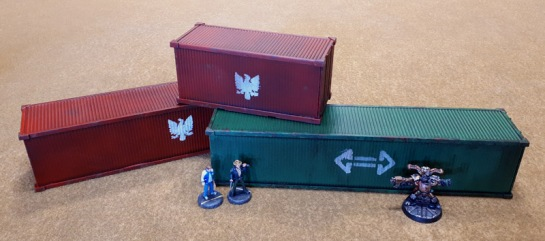 "Reaper Bones Shipping Containers 80036: Shipping Container; (unreleased?): 10"" Shipping Containers?"