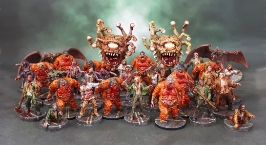Zombie Beholders, Berserker Zombie Fatties, Last Night on Earth Zombies with Grave Weapons, Ptera-Folk