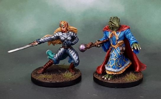 Dungeons and Dragons Wrath of Ashardalon Heroes - Keyleth, Elf Paladin & Heskan, Dragonborn Wizard