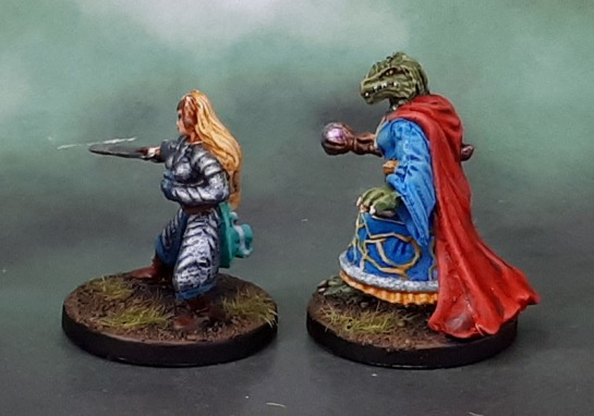 Dungeons and Dragons Wrath of Ashardalon Heroes - Keyleth, Elf Paladin & Heskan, Dragonborn Wizard