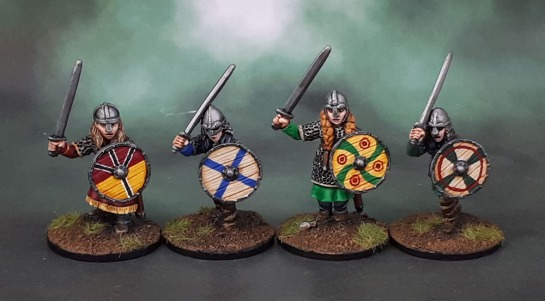 Bad Squiddo Games Shieldmaiden Hearthguard with Swords