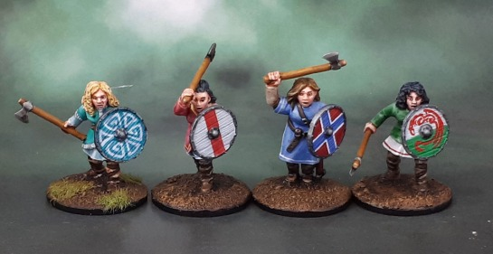 Shieldmaiden Warriors with Axes, Bad Squiddo Games