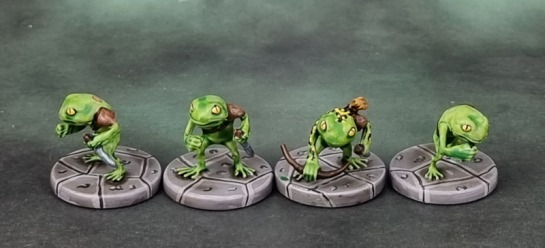 D&D Miniatures, Dungeon of the Mad Mage, Grung Assassins, Grung Elite Warrior