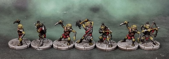 D&D, Dungeons and Dragons, The Legend of Drizzt - Irontooth, Goblin Champion; Goblin Cutters; Goblin Archers