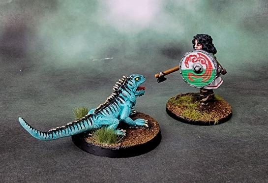 Bad Squiddo Games - Giant Iguana, Shieldmaiden