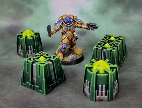 "Kill Team: Pariah Nexus - Necron ""Barrels"" and ""Crates"""