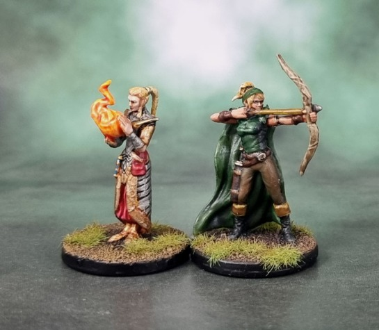 D&D Dungeons and Dragons Temple of Elemental Evil Heroes - Talon, Human Ranger & Nymmestra, Sun Elf Wizard