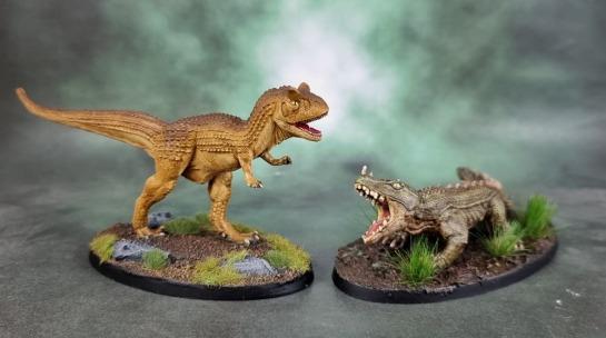 Reaper Bones Black 44080: Carnotaurus, 44068: Hornslasher