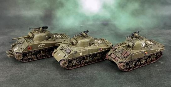 Battlefront U.S. M4A3 (Late) Shermans 75mm Turrets