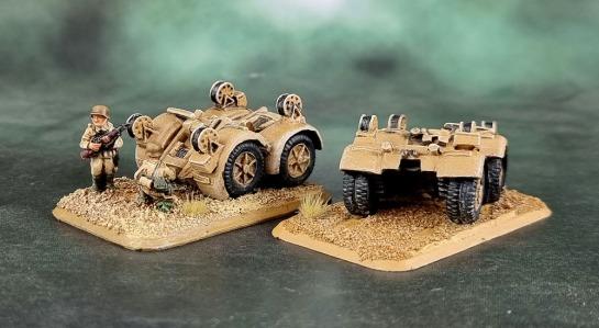 Battlefront Miniatures, Flames of War, DAK, Afrika Korps, Deutsches Afrikakorps, 15mm, 1/100 scale, Luftwaffe Flakartillerie 88 Wheel Bogies