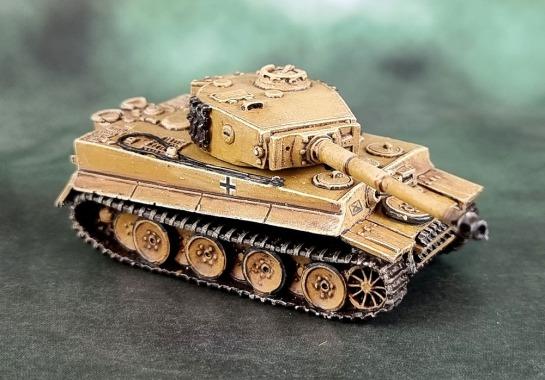 Battlefront Miniatures, Flames of War, DAK, Afrika Korps, Deutsches Afrikakorps, 15mm, 1/100 scale, Tiger I