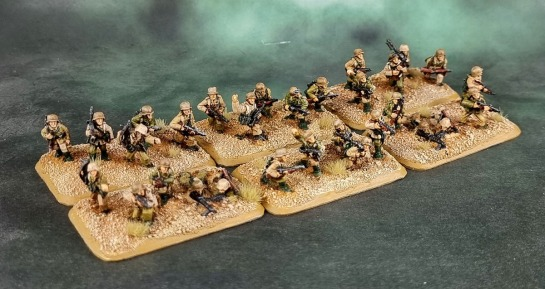 Battlefront Miniatures, Flames of War, DAK, Afrika Korps, Deutsches Afrikakorps, 15mm, 1/100 scale, Grenadier Zug Platoon