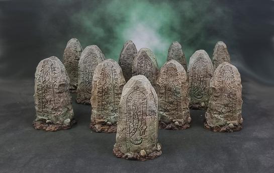 Mantic Games Kings of War: Vanguard – Battlefield Objectives Runestones/Standing Stones
